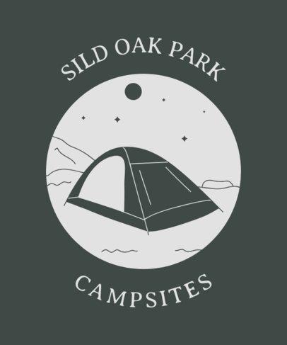 T-Shirt Design Template for Camping Aficionados 1847h