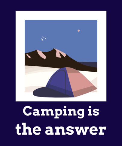 T-Shirt Design Creator with an Outdoor Camping Graphic 1849g