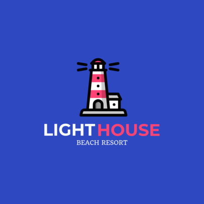 Beach Resort Logo Generator Featuring a Lighthouse Clipart 1762f-18-el