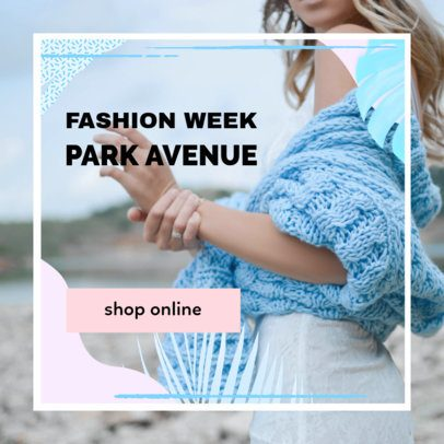 Minimalist Banner Template for Fashion Week 268g 1886