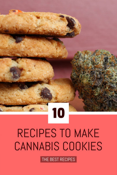 Pinterest Pin Design Template for a Recipe with Cannabis 626i - 1894