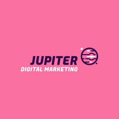 Digital Marketing Agency Logo Generator Featuring Galactic Graphics 2230h-22-el