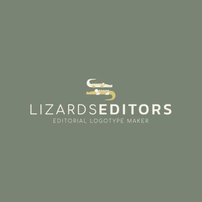 Publishing Company Logo Generator Featuring Illustrated Animals 1265i 13-el