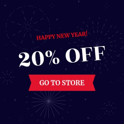 Holiday Banner Maker for a New Year Sale 290g-1866
