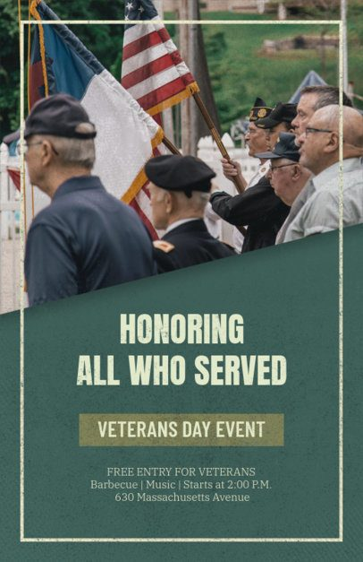 Veterans Day Flyer Generator for an Honoring Celebration 1803e