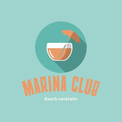 Cocktail Bar Logo Generator for a Beach Club 1760i-1-el