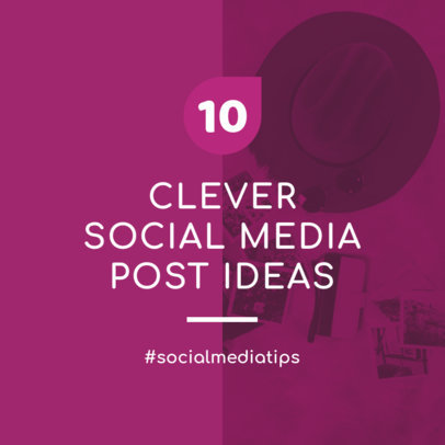 Instagram Post Template for a Post About Clever Ideas 631h-1883