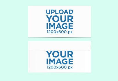 Mockup Featuring Two Envelopes Against a Solid Color Backdrop 777-el