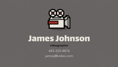 Business Card Template for Filmmakers Featuring a Movie Camera Clipart 207f 24-el