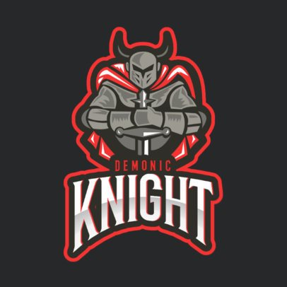 Gaming Logo Maker with a Demonic Knight Inspired in Wow 2613z
