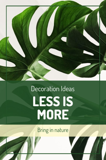 Pinterest Pin Template for Decoration with Plants 1885e