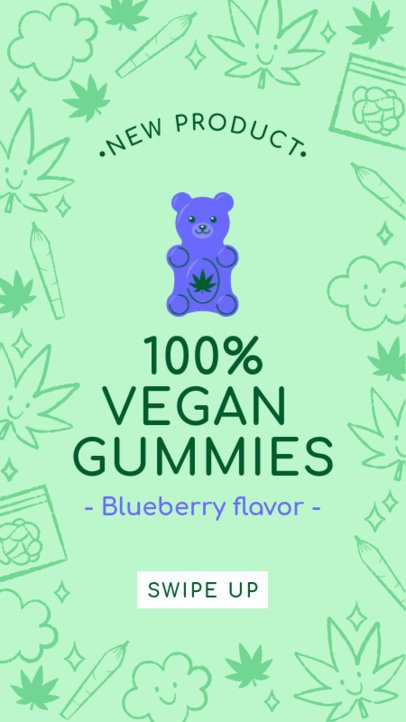 Instagram Story Generator for CBD Gummy Edibles 1832k 1887