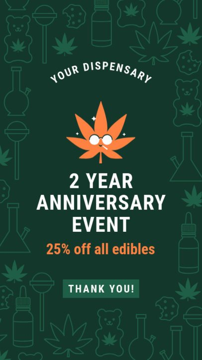 Instagram Story Maker for a Special Discount on Cannabis Products 1832l 1887