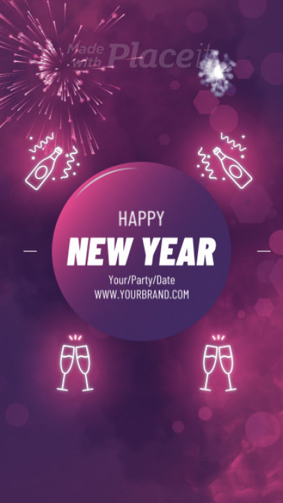 Instagram Story Video Maker for a Happy New Year's Festivity 456