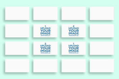 Business Card Mockup Featuring a Mosaic of Horizontal Business Cards 770-el