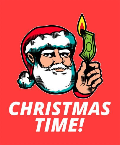 Funny T-Shirt Design Maker with Irreverent Christmas Illustrations 1881