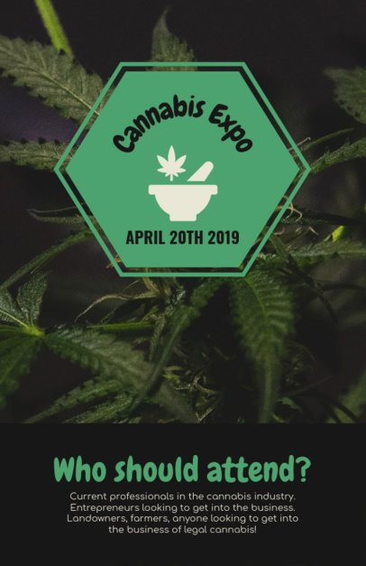 Online Flyer Template for a Cannabis Expo 1893