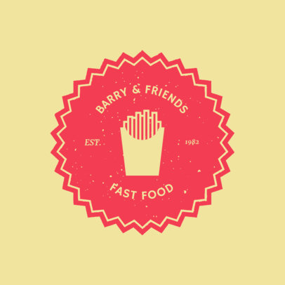 Retro-Styled Logo Maker for a Fast Food Restaurant 1013f 50-el