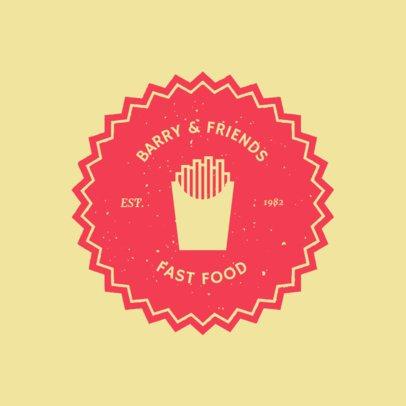 Retro-Styled Logo Maker for a Fast Food Restaurant 1013f 50-el