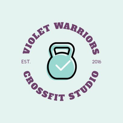 Crossfit Gym Logo Maker for a Fitness Club 1273g 28-el
