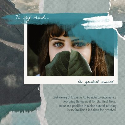 Collage-Style Instagram Post Template Featuring a Quote 1900a