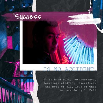 Instagram Post Maker Featuring an Inspirational Quote in a Ripped-Collage Design 1900d