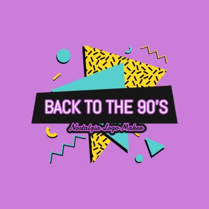 Retro Logo Template Featuring a Vibrant Neon Design 2615