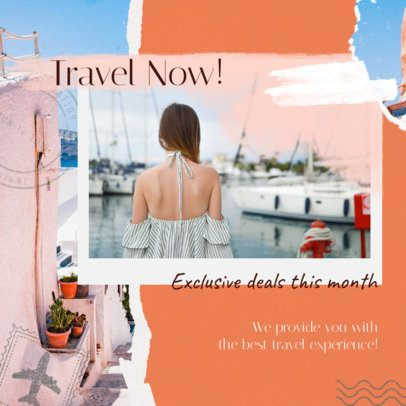 Collage-Style Instagram Post Maker for Travelholic Influencers 1900l