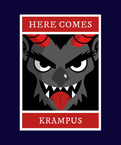 Krampus Christmas T-Shirt Maker 1880e