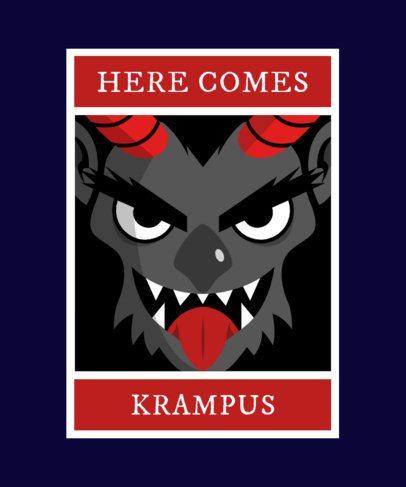 Krampus Christmas T-Shirt Maker 1880e