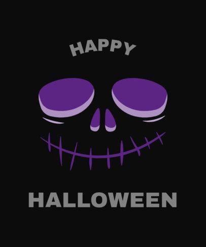 Halloween T-Shirt Design Maker Featuring a Cartoonish Skull 1878a