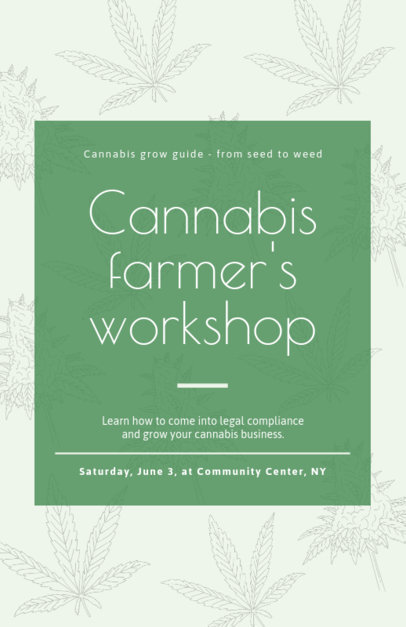 Online Flyer Maker for a Cannabis Workshop 1892c