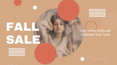 Fall-Themed Facebook Cover Video Maker for a Clothing Brand 1220a 301