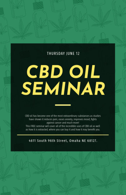 Flyer Generator for a CBD Oil Seminar  1892d