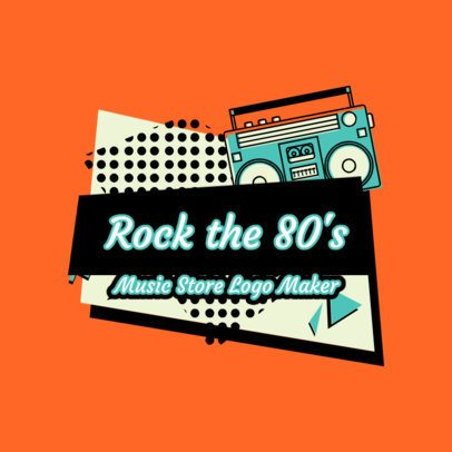 Cool Logo Template for a Retro Music Store 2615f