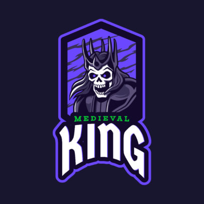 Gaming Logo Maker Featuring a King Skeleton 2620