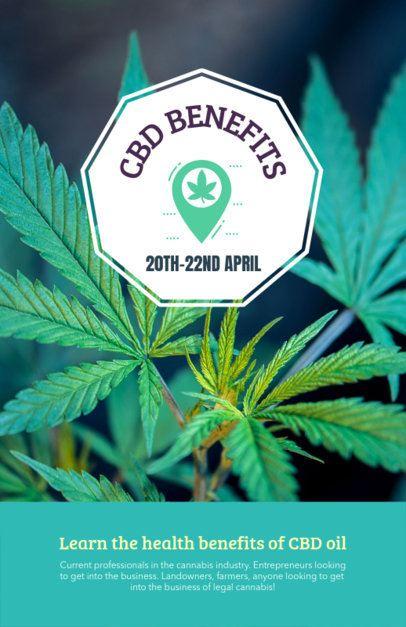 Flyer Generator Featuring Marijuana Benefits 1893b