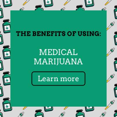 Ad Banner Maker for a Medical Marijuana Post 1896a