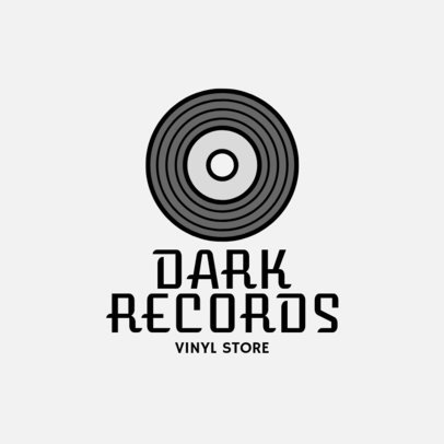 Online Logo Maker for a Vinyl Store 1184h 66-el