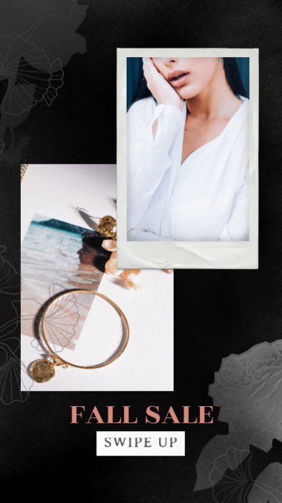 Instagram Story Template for a Jewelry Brand's Fall Sale 1899l