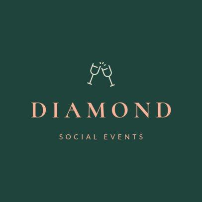 Wedding Planner Logo Maker with an Elegant Style 1217f 51-el