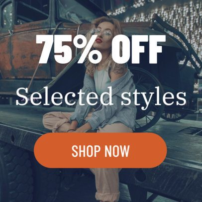 Fashion Sale Online Banner Maker 16614a