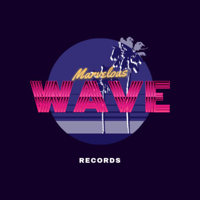 Retro Logo Maker Featuring Synthwave-Style Palm Trees 2616f