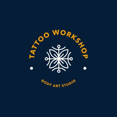 Abstract Logo Maker for a Tattoo Workshop 1247f-2618