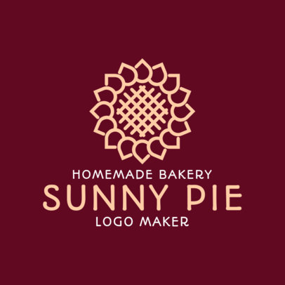 Bakery Logo Maker with an Abstract Floral Icon 1113h-2618