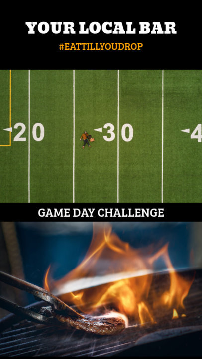 Instagram Story Creator for a Football Game Day Challenge 950f-1926