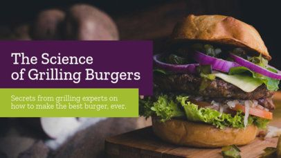 YouTube Thumbnail Template for a Burger Grilling Video 901f-1939