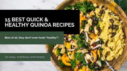 YouTube Thumbnail Design Template for a Quinoa Recipes Video 901l-1939