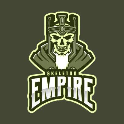 Gaming Logo Maker Featuring a Skeleton Emperor 2620e