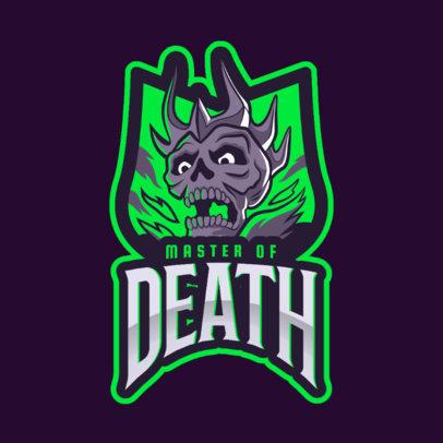 Logo Maker with a Skull Illustration for Gamers 2620f